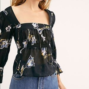 Free People Cherish The Light Printed Blouse